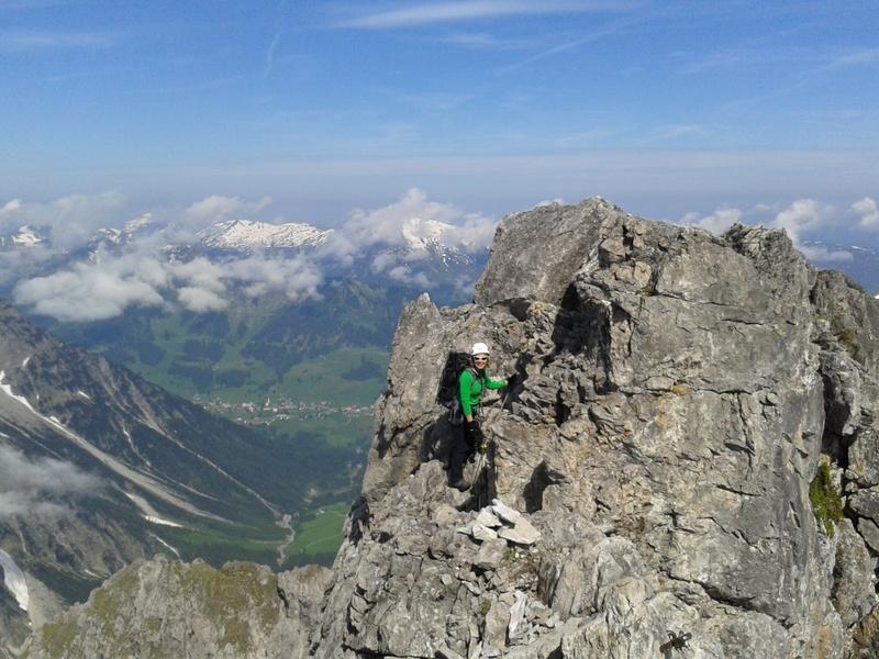 Klettersteig Mindelheimer : Alpenverein mindelheim Über den klettersteig